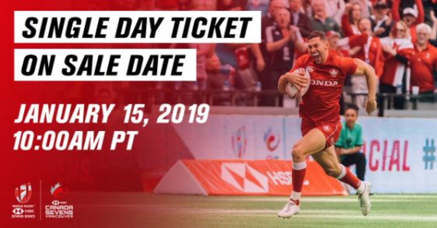 2019 HSBC Canada Sevens single day tickets on sale date announced