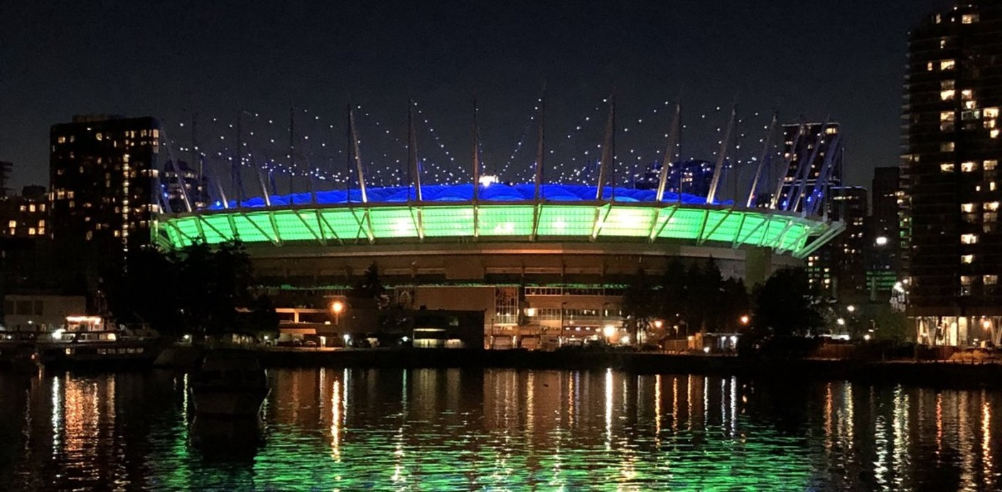 BC Place lights up for Neighbourhood Cleanup Party – BC Place