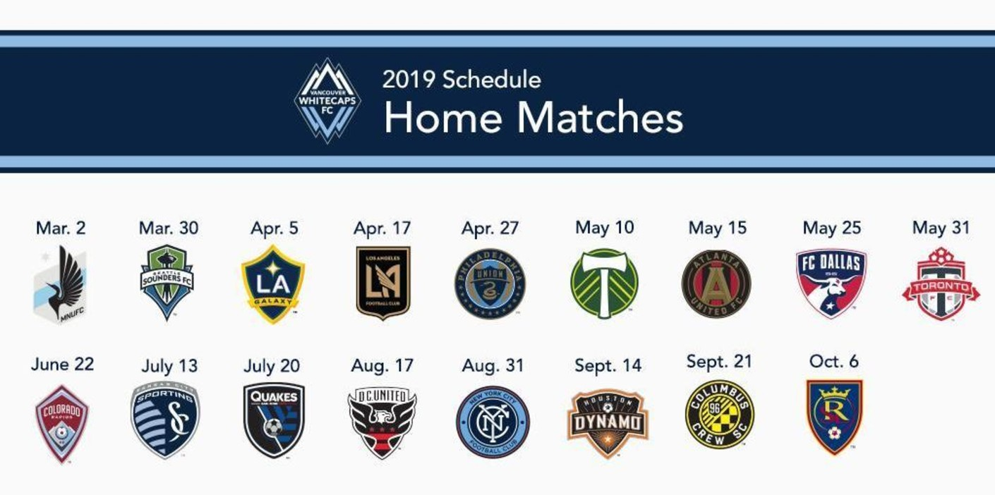 Whitecaps Fc 2019 Schedule Released Bc Place